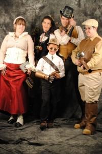 The Phoenix Comicon Steampunk Gang