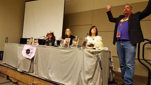 Steampunk Writing panel with Gini Koch & Beth Cato, moderated by Edward Pulley.